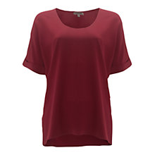 Buy Jigsaw Silk Basic Scoop Top Online at johnlewis.com