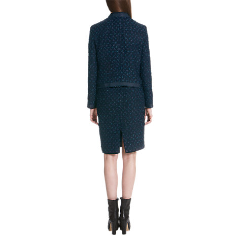 Buy Jigsaw Tweed Bow Jacket, Navy Online at johnlewis.com