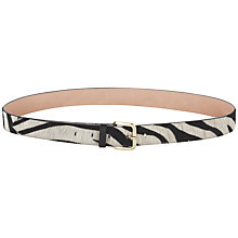 Buy Jigsaw Zebra Print Belt, Black Online at johnlewis.com