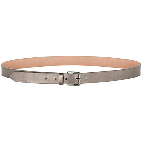 Buy Jigsaw Leather Belt, Pewter Online at johnlewis.com