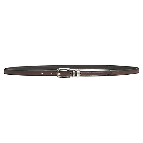 Buy Jigsaw Double Keeper Belt, Brown Online at johnlewis.com