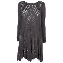 Buy Phase Eight Paula Pointelle Tunic, Charcoal Online at johnlewis.com