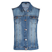 Buy Mango Mid Wash Denim Gilet, Medium Blue Online at johnlewis.com