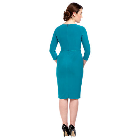 Buy Alexon Drape Front Jersey Dress, Green Online at johnlewis.com