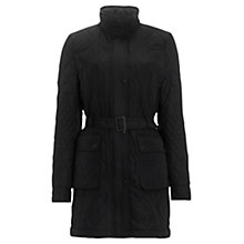 Buy Jigsaw Graded Quilted Jacket, Black Online at johnlewis.com