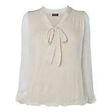 Buy Phase Eight Made in Italy Viola Silk Pussybow Blouse, Neutral Online at johnlewis.com
