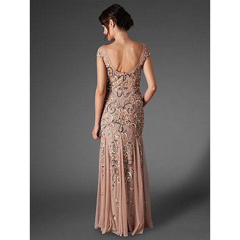 Buy Phase Eight Collection 8 Nina Sequin Jewelled Dress, Blush Online at johnlewis.com