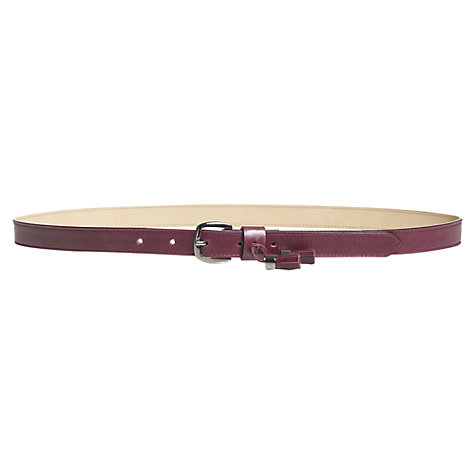 Buy Jigsaw Camden Tassel Belt, Purple Online at johnlewis.com
