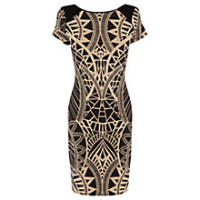 Buy Oasis Tribal Print Dress, Black Online at johnlewis.com