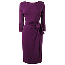 Buy Phase Eight Della Tie Side Dress, Purple Online at johnlewis.com