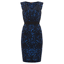 Buy Jigsaw Tie Print Belted Dress, Blue Online at johnlewis.com
