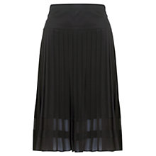 Buy Jigsaw Pleated Skirt, Black Online at johnlewis.com