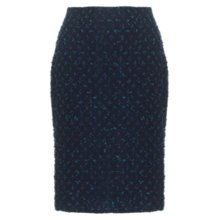 Buy Jigsaw Tweed Pencil Skirt, Navy Online at johnlewis.com