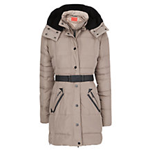 Buy Mango Down Long Coat, Light Pastel Brown Online at johnlewis.com