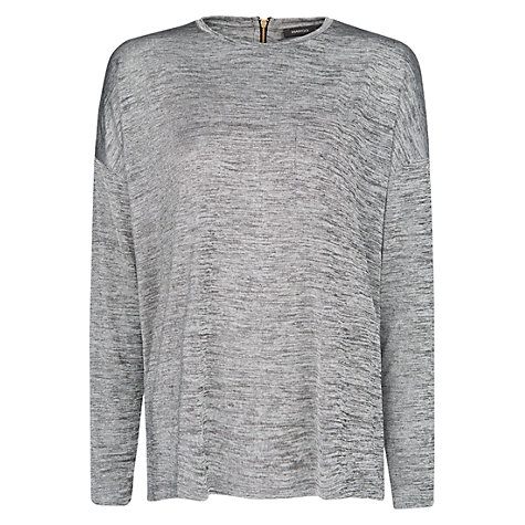 Buy Mango Pocket T-Shirt, Medium Grey Online at johnlewis.com