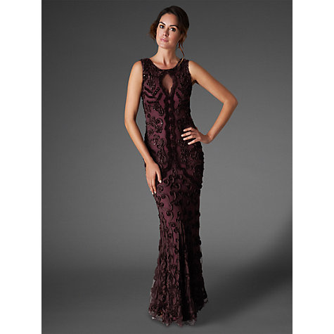 Buy Phase Eight Collection 8 Lexy Full Length Dress, Oxblood Online at johnlewis.com