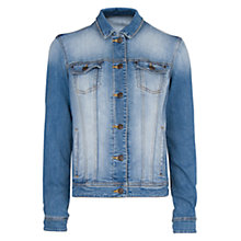 Buy Mango Mid Wash Denim Jacket, Medium Blue Online at johnlewis.com