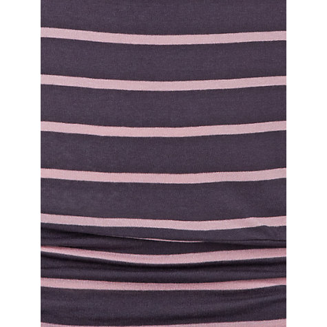 Buy Phase Eight Dana Stripe Top, Mole/Pink Online at johnlewis.com
