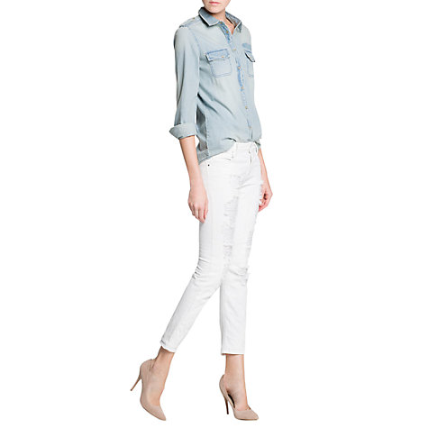 Buy Mango Super Slim Fit Ripped Jeans Online at johnlewis.com