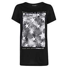 Buy Mango Stars Print T-Shirt, Black Online at johnlewis.com
