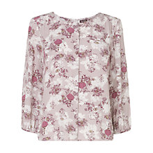 Buy Phase Eight Li Lantern Print Blouse, Dusty Pink Online at johnlewis.com