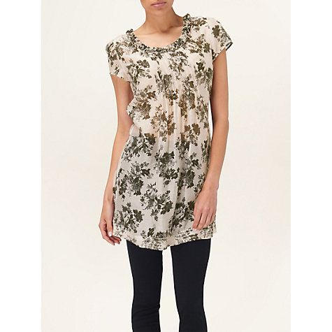 Buy Phase Eight Winona Floral Printed Tunic, Biscuit Online at johnlewis.com