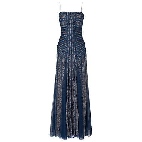 Buy Phase Eight Collection 8 Saskia Lace Dress, Petrol/Nude Online at johnlewis.com
