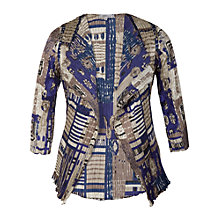 Buy Chesca Abstract Print Shrug, Cappuccino Online at johnlewis.com