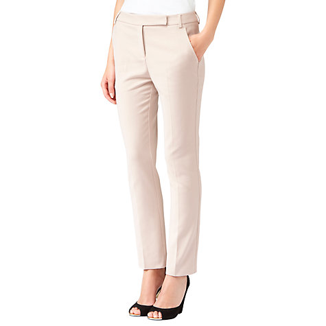 Buy Reiss Straight Leg Trousers, Soft Neutral Online at johnlewis.com