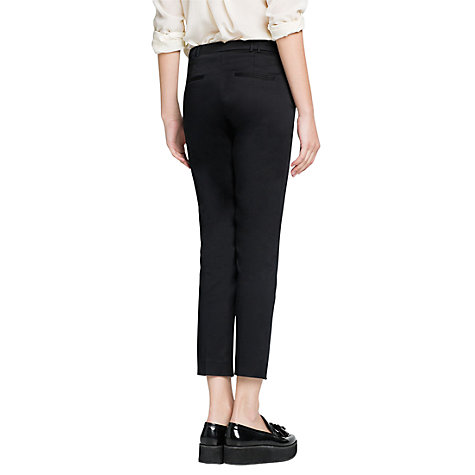 Buy Mango Cropped Suit Trousers, Black Online at johnlewis.com