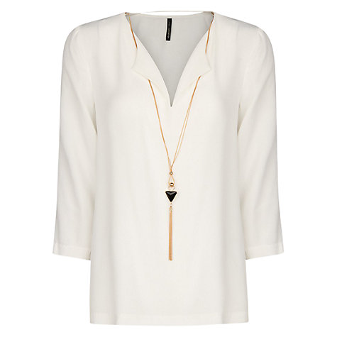 Buy Mango Necklace Blouse Online at johnlewis.com