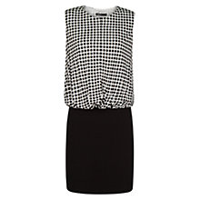 Buy Mango Geometric Combi Dress, Natural White Online at johnlewis.com