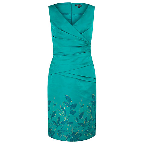 Buy Alexon Oriental Jacquard Dress, Green Online at johnlewis.com