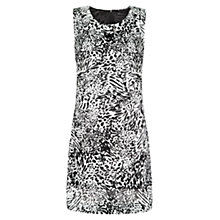 Buy Mango Studded Leopard Dress, Black Online at johnlewis.com