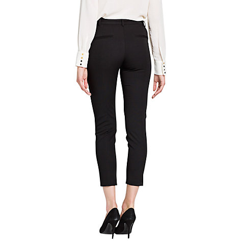 Buy Mango Slim Suit Trousers, Black Online at johnlewis.com