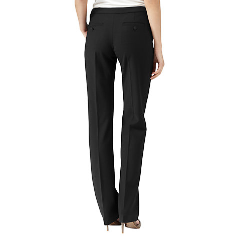 Buy Reiss Wide Leg Trousers, Black Online at johnlewis.com