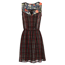 Buy Mango Contrasting Panels Dress, Black Online at johnlewis.com
