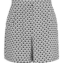 Buy Reiss Rosie Printed Fluid Shorts, Grey Online at johnlewis.com