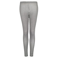 Buy Mango Houndstooth Leggings, Black Online at johnlewis.com