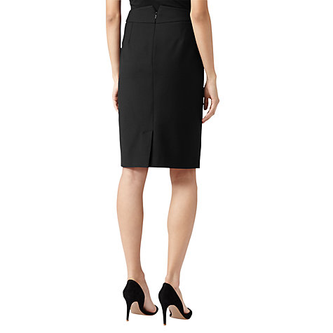 Buy Reiss Back Detail Pencil Skirt, Black Online at johnlewis.com