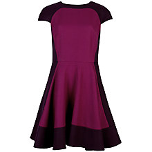 Buy Ted Baker Linkah Colour Block Dress, Pink Online at johnlewis.com