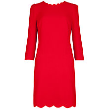 Buy Ted Baker Belleta Scallop Neckline Dress, Red Online at johnlewis.com