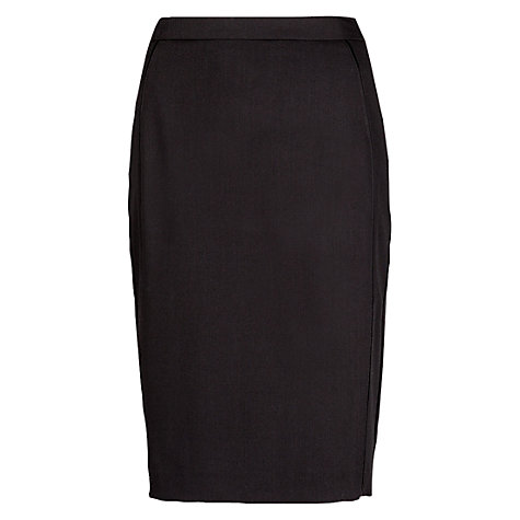 Buy Mango Satin Detail Tube Skirt, Black Online at johnlewis.com