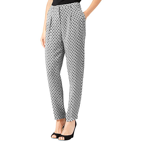 Buy Reiss Printed Capri Trousers, Grey Online at johnlewis.com