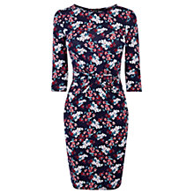 Buy Warehouse Mambo Floral Print Dress, Blue Online at johnlewis.com
