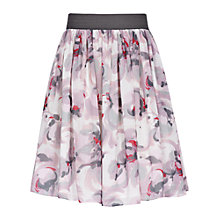 Buy Reiss Rose Flared Skirt, Pink Online at johnlewis.com