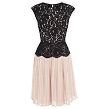 Buy Warehouse Lace Bodice Dress, Light Pink Online at johnlewis.com