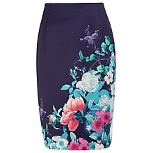 Buy Kaliko Floral Pencil Skirt, Blue Online at johnlewis.com