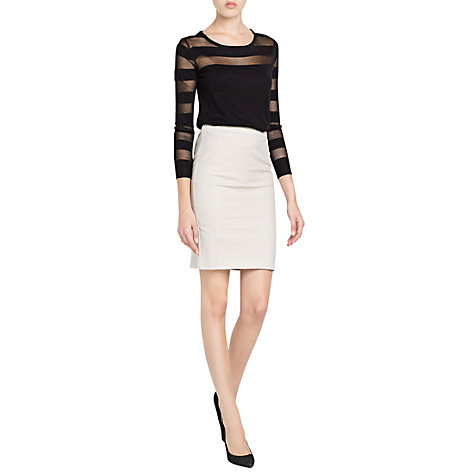 Buy Mango Straight Miniskirt Online at johnlewis.com