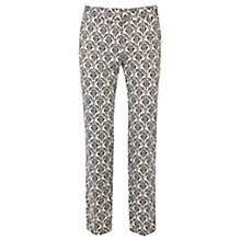 Buy Warehouse Tile Print Trousers, Black Online at johnlewis.com